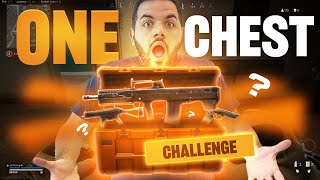 The *ONE CHEST* Challenge in Warzone...