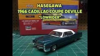 Hasegawa 1/24 1966 Cadillac Coupe DeVille Lowrider Scale Model Kit Build Review 20376