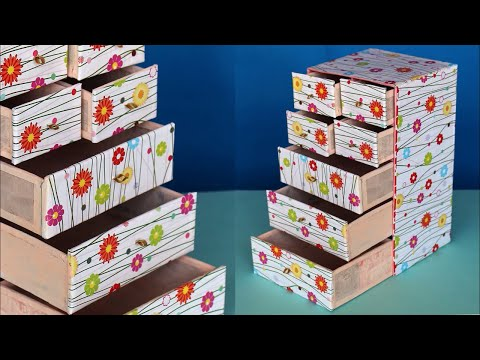 Best Out of Waste Idea 2018 || box organizer diy || Desk Organizer with Cardboard | cardboard crafts