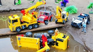 Vehicles Crane Truck, Excavator Rescue Transporter Truck Car Toys For Kids | Cars and Toys