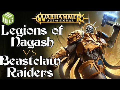 Legions of Nagash vs Beastclaw Raiders Age of Sigmar Battle Report - War of the Realms Ep 226