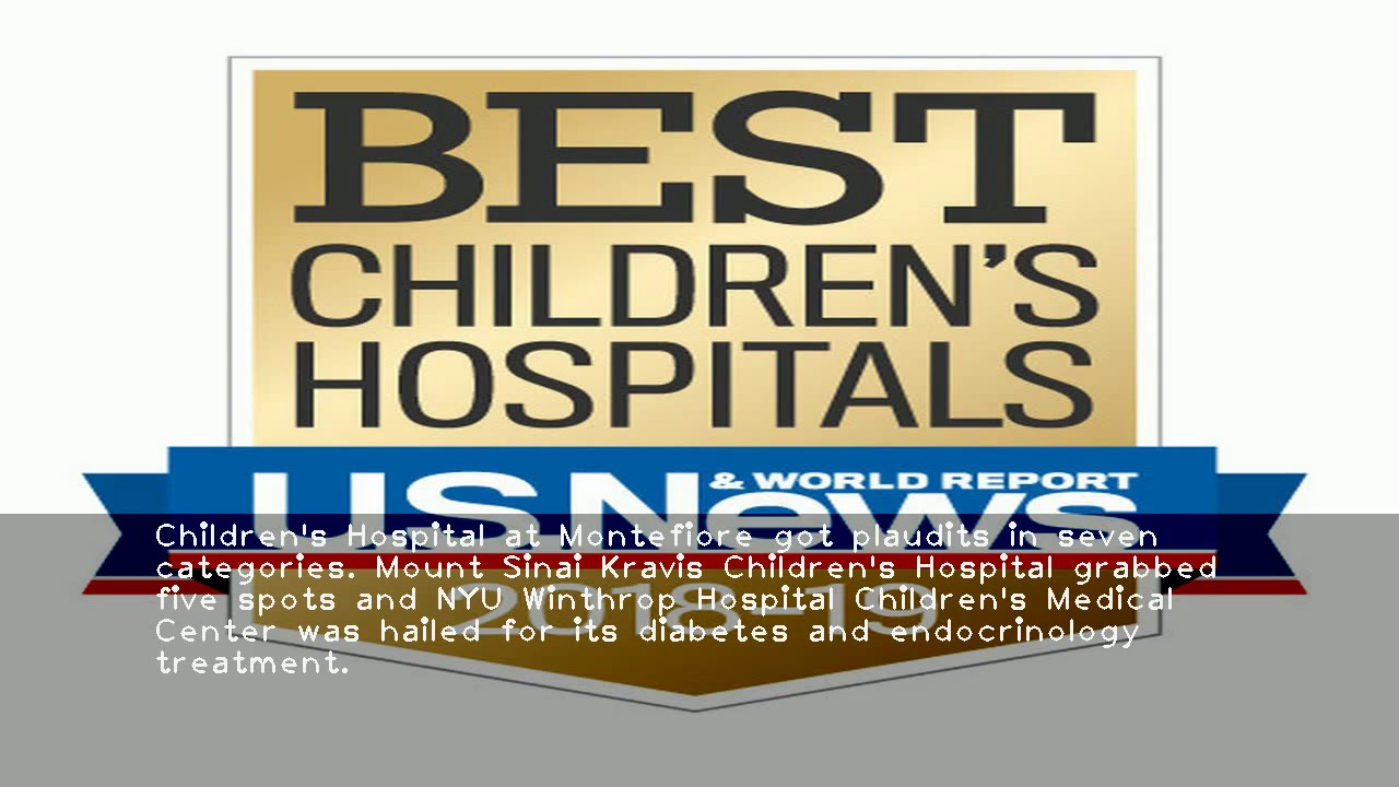 Seven New York children's hospitals ranked among best in U S