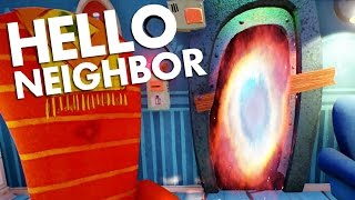 THE BASEMENT ENDING LEADS TO ANOTHER DIMENSION - Hello Neighbor ALPHA 2 Update - Gameplay Highlights