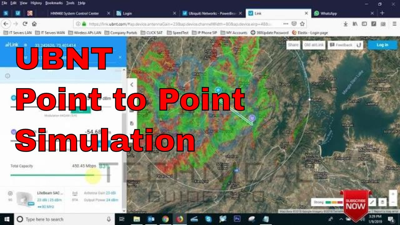 Ubiquiti Airlink Wireless Link Planner | UBNT Point to Point Link simulation