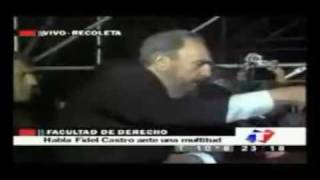 Fidel Castro Speaks to the Americas in English Part 2