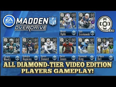 df3a4fe13 MADDEN NFL OVERDRIVE 90 OVR DIAMOND-TIER VIDEO EDITION ALL PLAYERS GAMEPLAY!