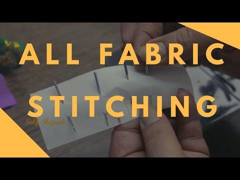 अलग अलग कपड़ो पर कोंसी सुई लगाये | All Fabric Stitching | Half Shuttle