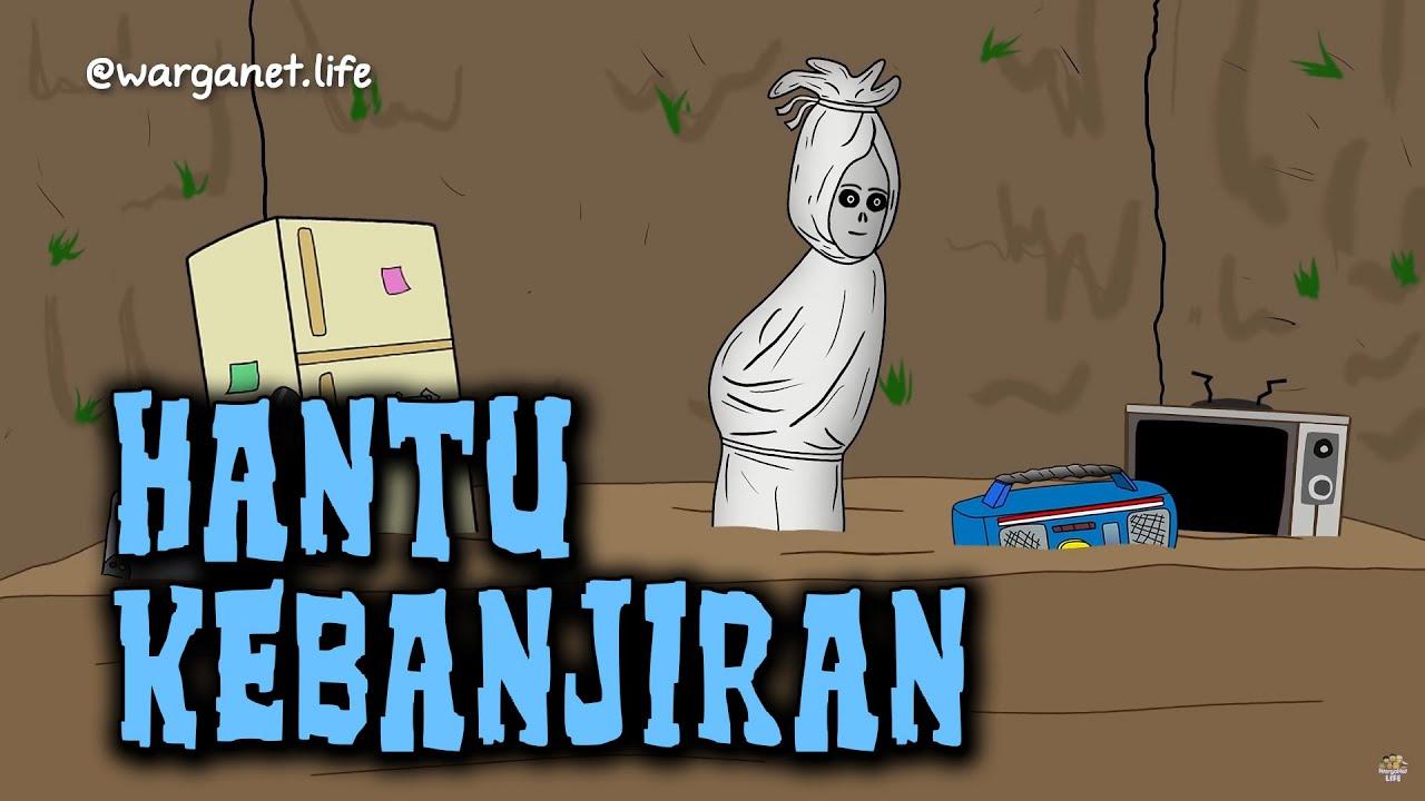 Hantu Kebanjiran Animasi Horor Kartun Lucu