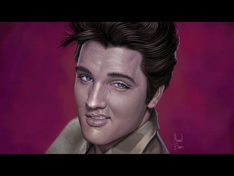 Elvis Presley portrait by Manuel Berrios C.