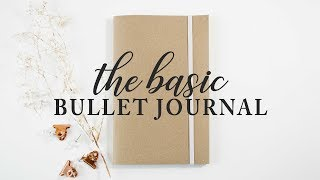Basic DIY Bullet Journal | Solid Pages, Pockets, and Dot Grid!