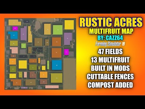 """Rustic Acres Multifruit Map By: Cazz64 """"Map Review"""""""