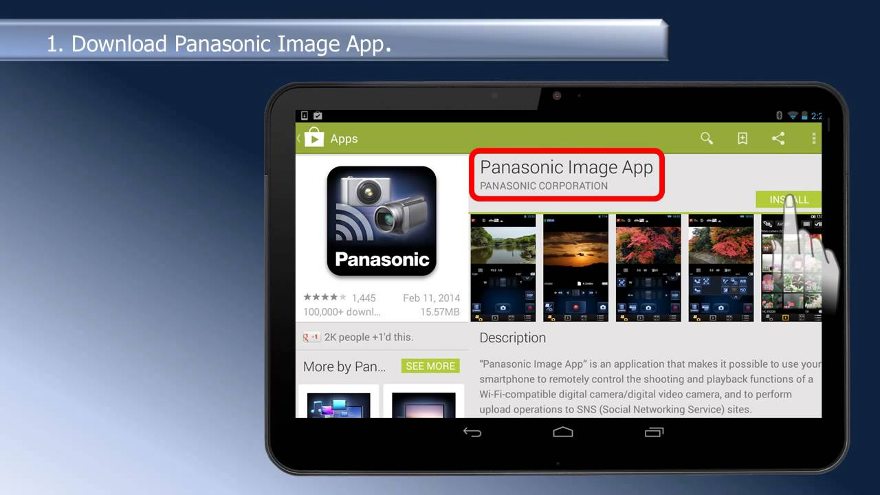 2014 Panasonic Camcorders - Setup Panasonic Link to Cell Wifi on an Android  tablet or smartphone