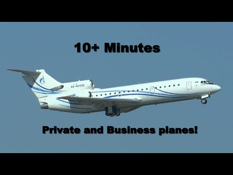 10+ minutes of private and business planes [HD]
