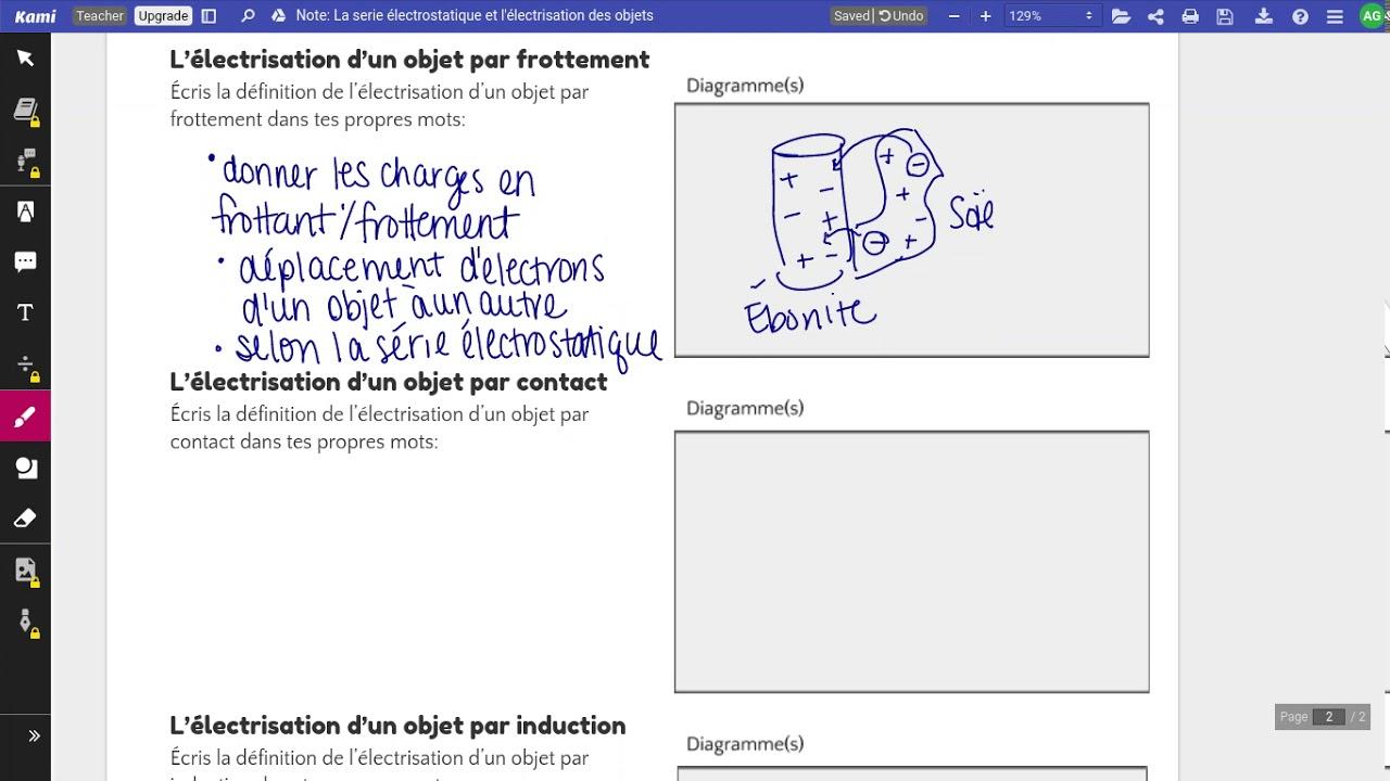 La Serie Electrostatique Et L Electrisation Des Objets Youtube