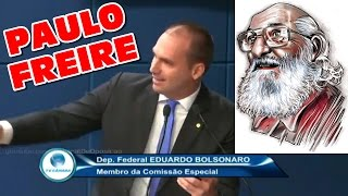 Eduardo Bolsonaro arranca gargalhadas ao citar Paulo Freire