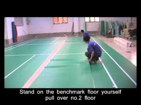 The assemblage order of Haokang badminton court flooring