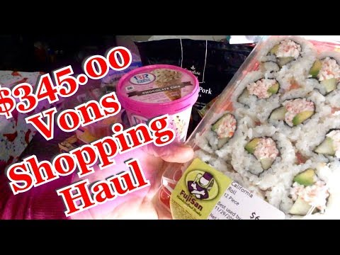 Relaxing Vons Shopping Haul ASMR gentle whispering, nice sounds, drink over ice