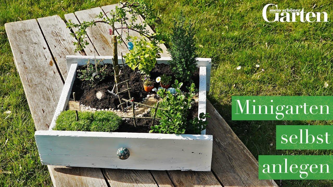 Bastelanleitung: Minigarten selbst anlegen - YouTube