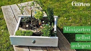 Bastelanleitung: Minigarten selbst anlegen