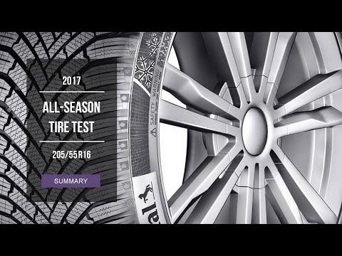 2017 All Season Tire Test Results | 205/55 R16