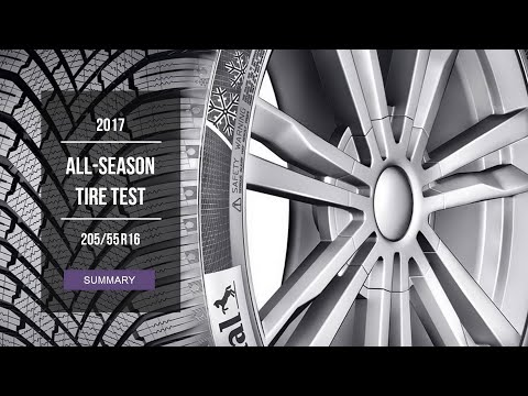 2017 All Season Tire Test Results 205 55 R16 Youtube