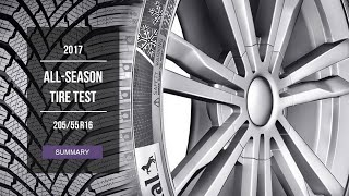 2017 All Season Tire Test Results | 205/55 R16