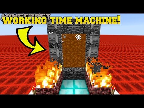 Thumbnail: Minecraft: WORKING TIME MACHINE!! (TRAVEL TO THE PAST & FUTURE!!) Mod Showcase