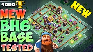 NEW Builder Hall 6 Base w/PROOF! BH6 CoC Anti 2 Star Builder Base w/Replays | Clash of Clans