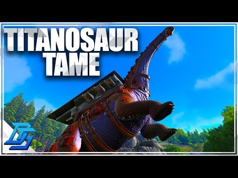 TAMING TITANOSAUR & BREEDING TITANOSAUR - Ark Survival Evolved - Pt 13 (Pugnacia)