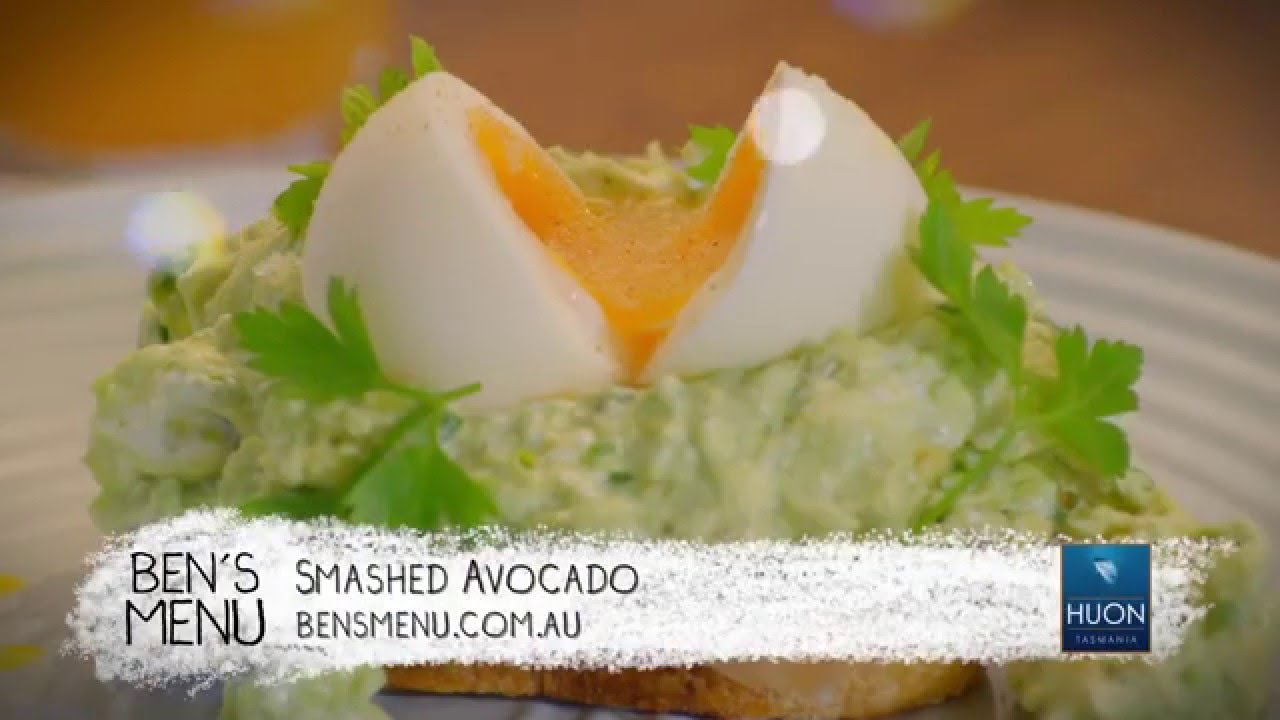 Smashed Avocado With Cold Smoked Salmon And Soft Boiled Egg Recipe