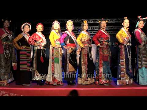 Miss Tibet 2017:  Traditional costume round 2