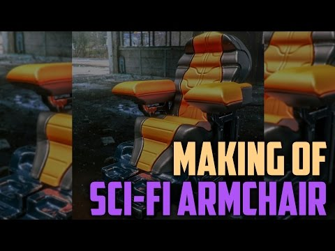 Sci-fi armchair concept in 3D-Coat, SketchRetopo, InstantMeshes, Vray and VRSCans (ENG sub)