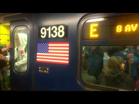 Upgraded R160 on Jamaica Center Bound E train at 42 St-Port Authority Bus Terminal