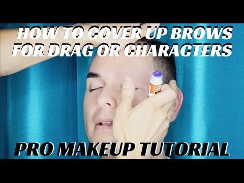 How to Cover Eyebrows with Glue Stick for Drag or Halloween Character Makeup - mathias4makeup