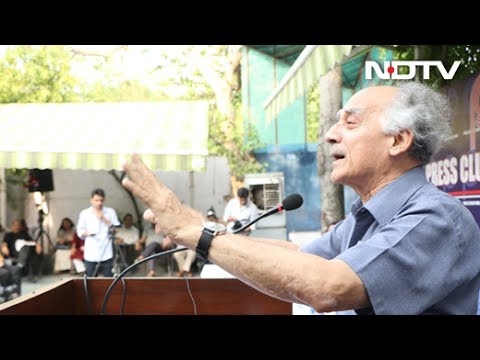 Arun Shourie's speech against CBI raids on NDTV: Narendra