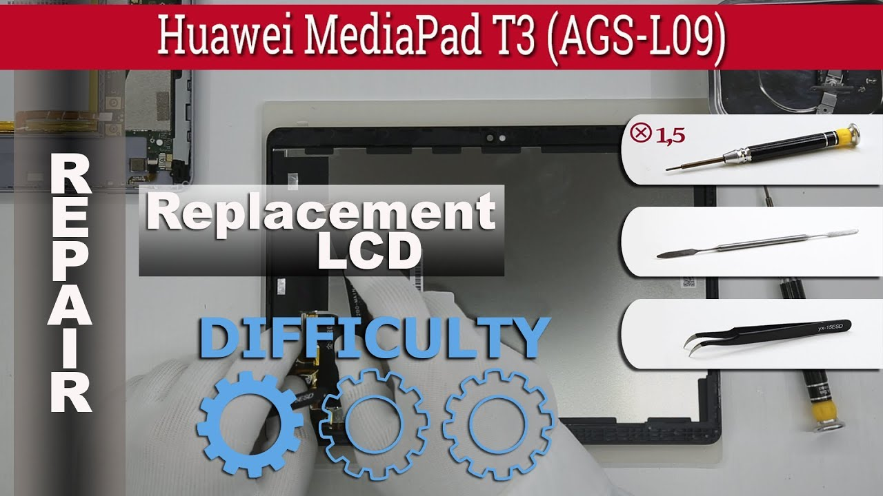 How to replace 🔧 LCD & Touchscreen 📱 Huawei MediaPad T3 10'' (AGS-L09)