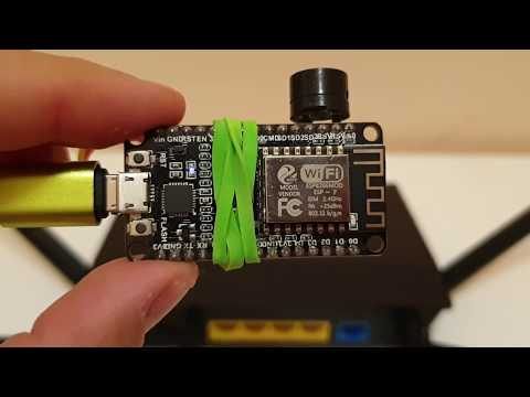 esp8266-based fake Geiger counter, reacts on WiFi networks signal