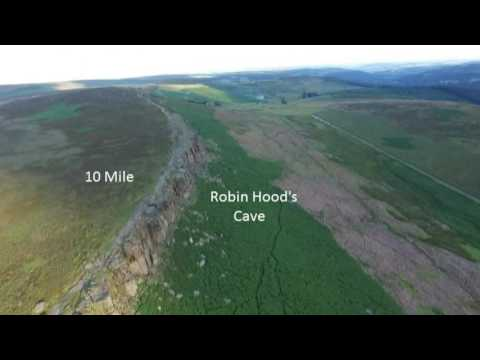 9 Edges Derbyshire, 22 Miles In 10 Mins By Drone