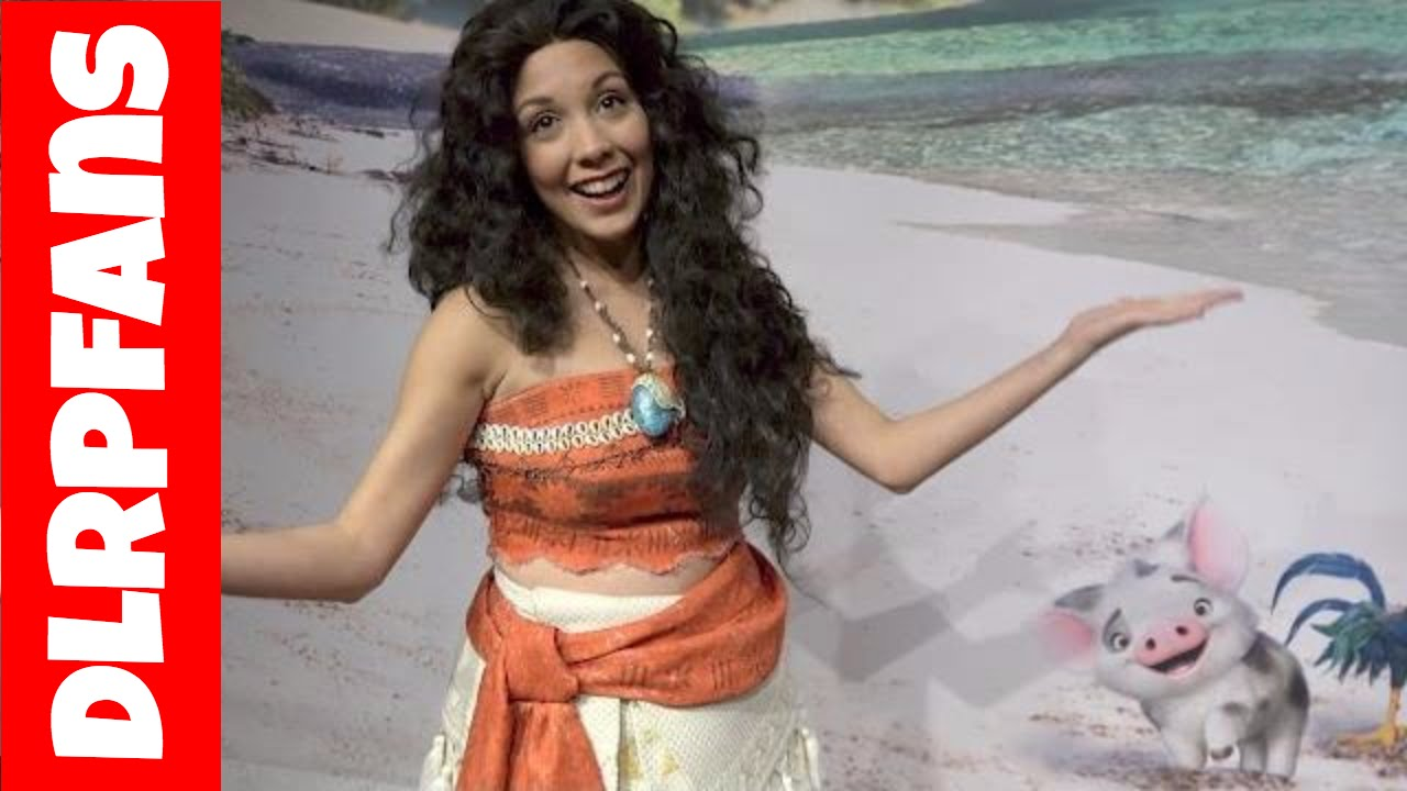 Moana Vaiana At Disneyland Paris Youtube