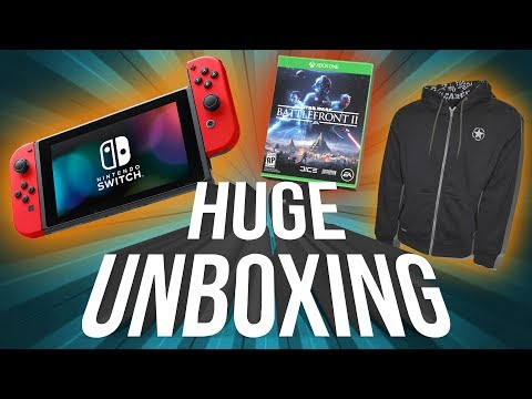 Nintendo Switch, Call of Duty: WWII & Star Wars: Battlefront II Unboxing