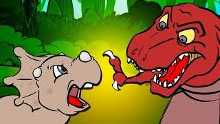 Dinosaur Songs for Kids | Plant Eaters vs Meat Eaters | T-rex, Velociraptor Dinosaurs by Howdytoons