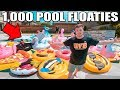 I FILLED MY SWIMMING POOL WITH 1,000 POOL FLOATIES!! 💧🦄