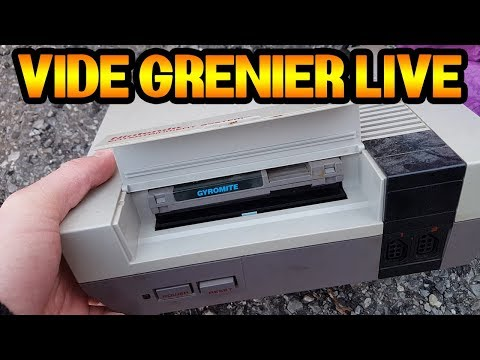 VIDE GRENIER LIVE DE PNOUS : UNE NES ET UN SUPER LOT PS3 !