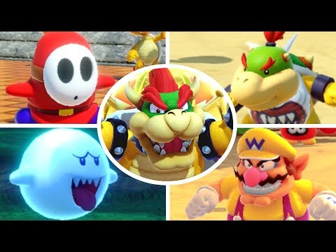 Super Mario Party - All Bosses (Master Difficulty)