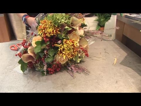 How To Make A Fall Bouquet Arrangement Youtube