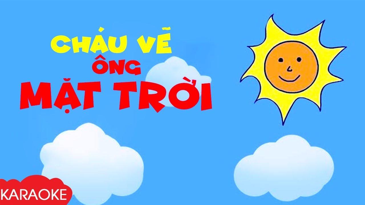 CHÁU VẼ ÔNG MẶT TRỜI - Karaoke | Nhạc Karaoke Thiếu Nhi Beat Chuẩn Dành Cho Bé