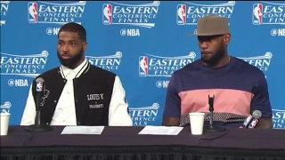 LeBron James & Tristan Thompson Postgame News Conference | Cavs vs Celtics ECF Game 3 | May 21, 2017