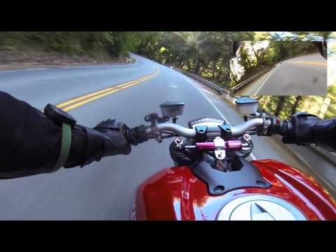 Onboard Ducati Streetfighter 1098 - Hwy 9 (uphill) - GoPro 3 Black + Chesty