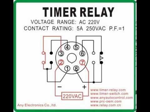 110v 220v Switch Wiring Diagram Ah3 N Mcu Timer Relay Mode B Youtube