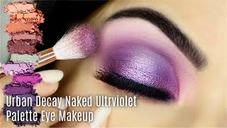 Eye Makeup Tutorial Using Urban Decay Naked Ultra Violet Palette | Purple Smokey Eye